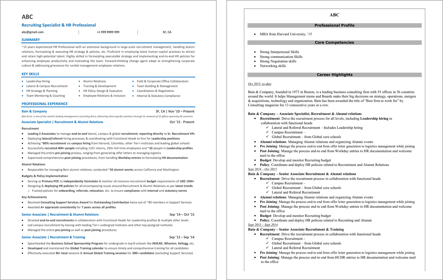 human resources resume examples and samples