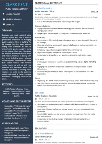 Public relations officer resume sample by hiration public relations officer resume sample thecheapjerseys Choice Image