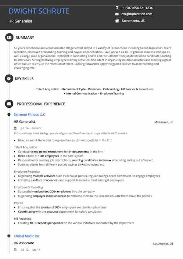 accounting manager resume sample by hiration
